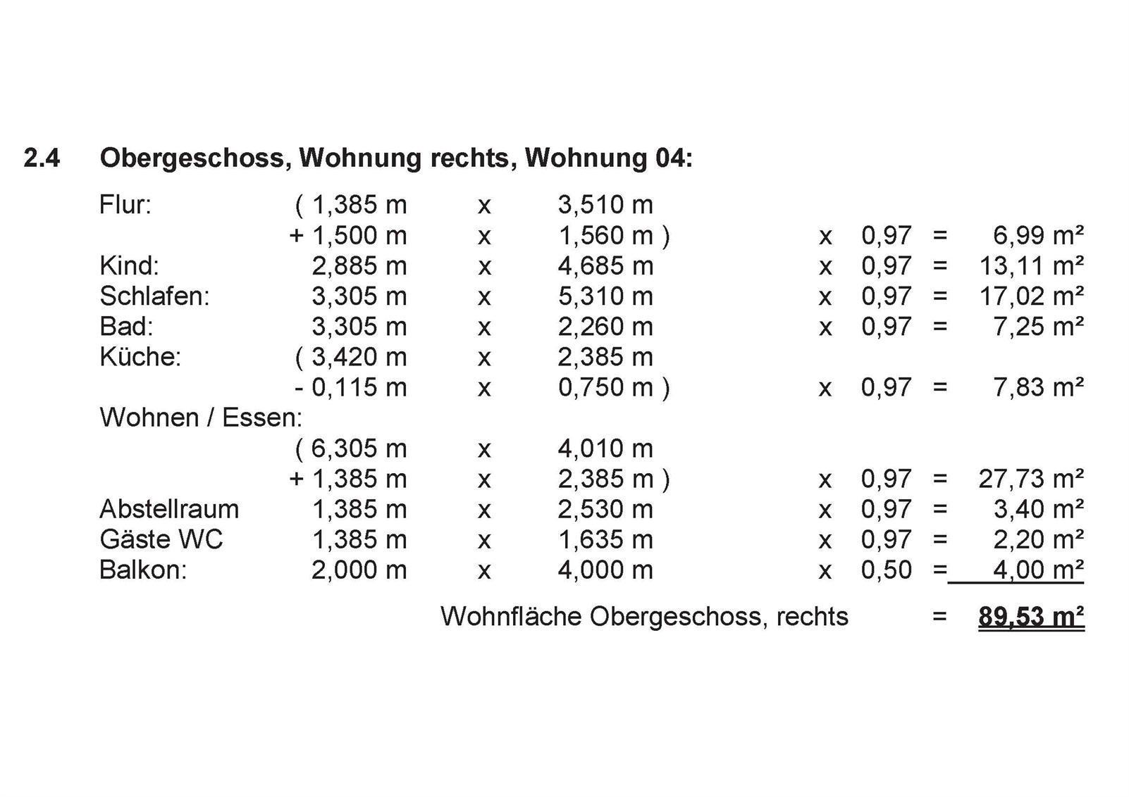 Wfl-Berechnung